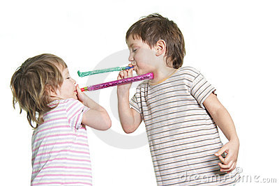 Two kids playing