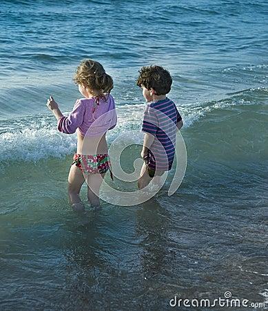 Two kids at sea