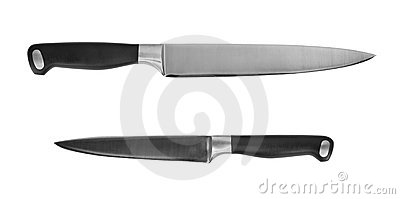 Two kitchen knives cutout