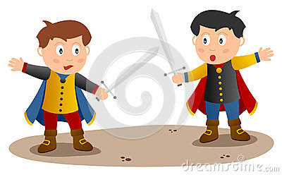 Two Knights with Sword