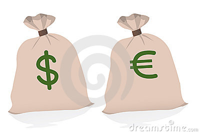 Two large bags of money