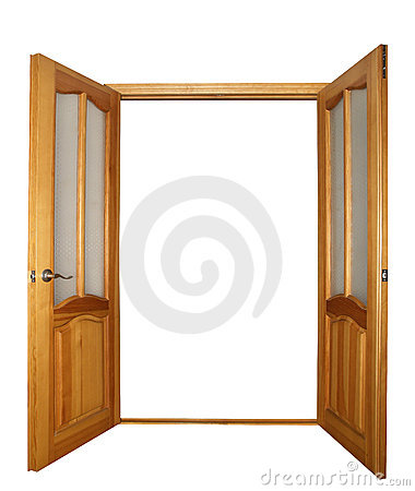 Free Two-leaf Door Isolated Stock Images - 1662144