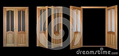 Two-leaf door over black 3view
