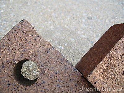 Two Leaning Bricks Abstract