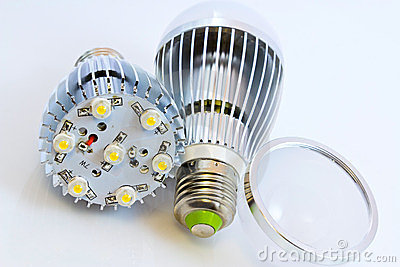 Two LED light bulbs with 1 Watts SMD chips