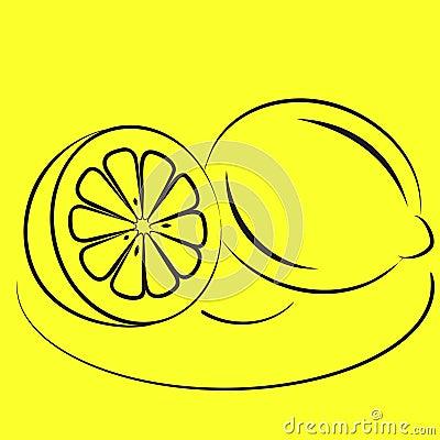 Two lemons on a plate.