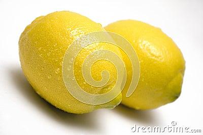 Two Lemons w/ Waterdrops