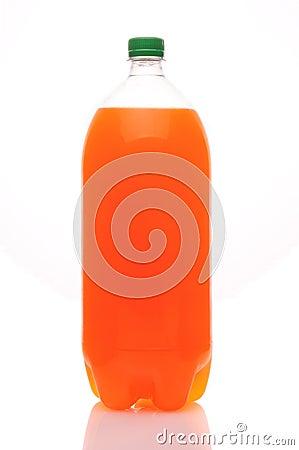 Two liter bottle of orange soda