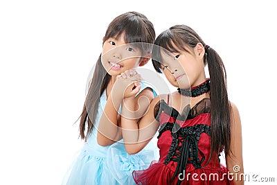 Two little asian girls