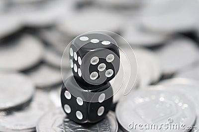 Two little black cubes