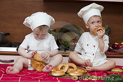 Two little cooks