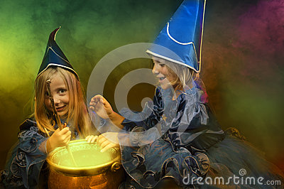 Two little halloween witches