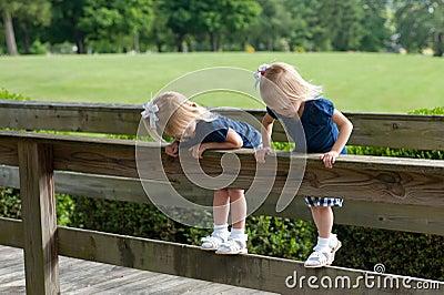 Two little twin girls