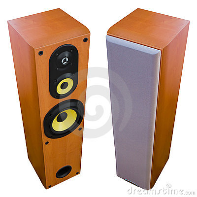 Two loud speakers