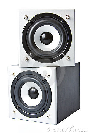 Free Two Loudspeakers Facing One To Another Royalty Free Stock Photos - 7501778