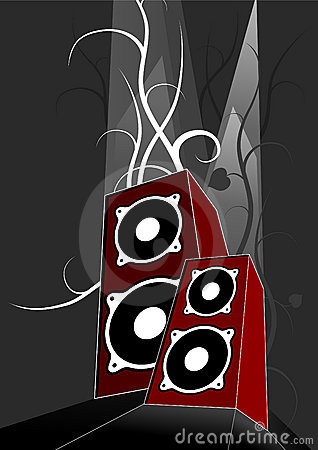 Free Two Loudspeakers - Vector Stock Photos - 1596563