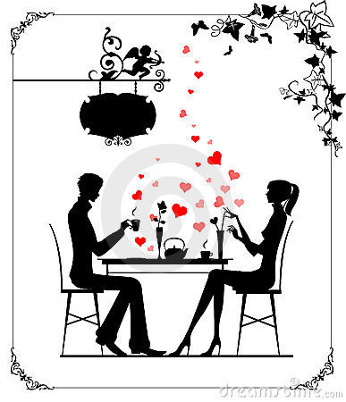 Free Two Lovers In The Cafe Stock Image - 5171191