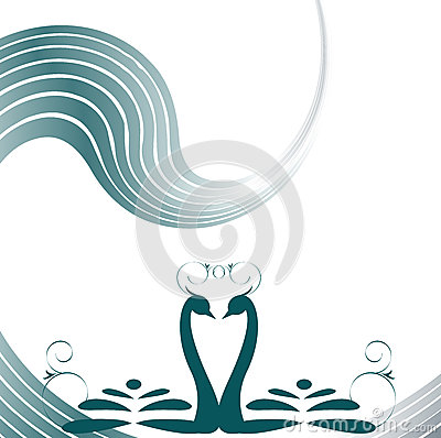 Two lovers swan