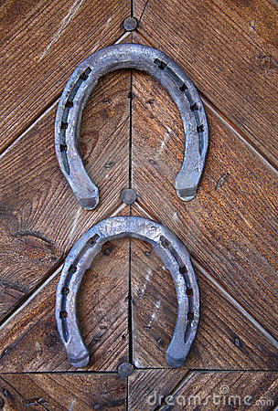 Two lucky horseshoes