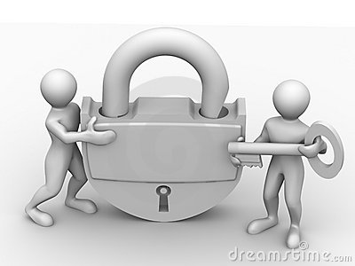Two man with lock
