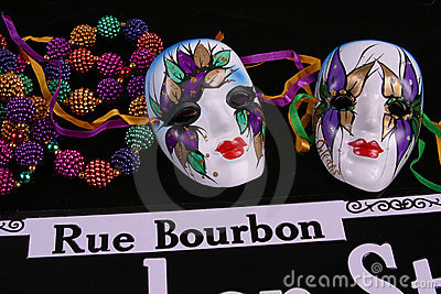 Two Masks, Beads and Rue Bourbon