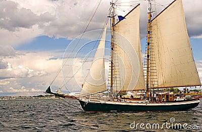 Two-masted sailboat