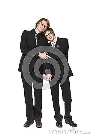 Two men interacting
