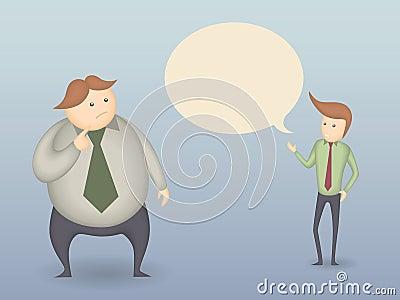 Two Men Talk