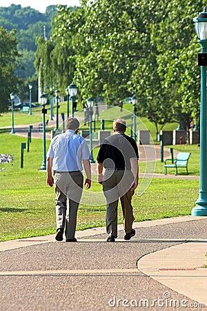 Free Two Men Walking Royalty Free Stock Image - 1938466