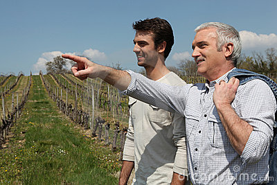 Two men on wine tour