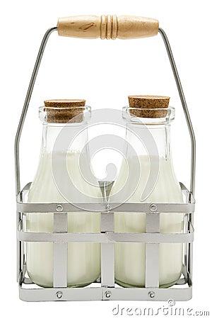 Free Two Milk Bottles Royalty Free Stock Photo - 4376945