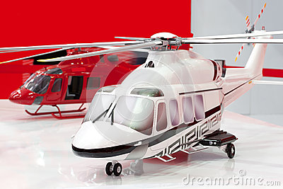 Two models of helicopters