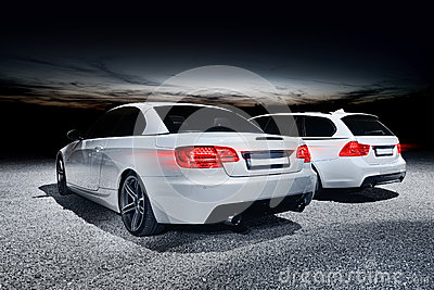 Two modern cars