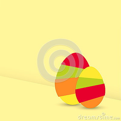 Two modern easter egg graphic elements