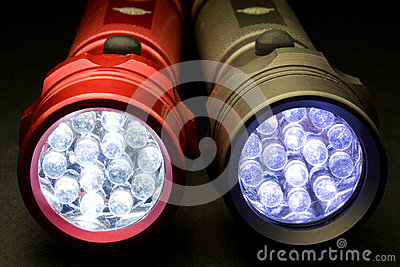 Two Modern LED Flashlights