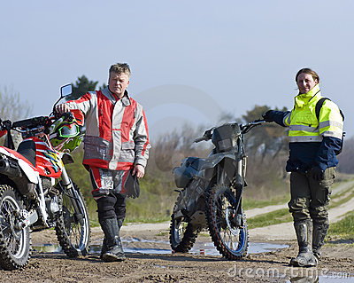 Two motocross riders