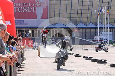 Two motorcyclists on track Editorial Photo