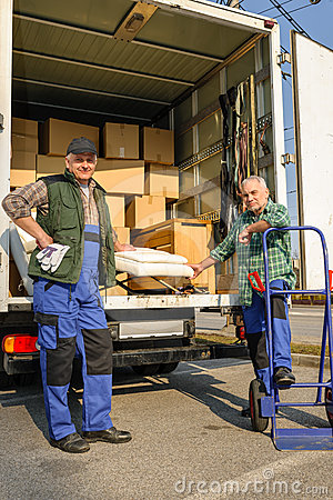 Two mover load van with furniture boxes