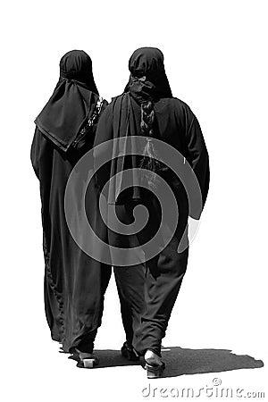 Free Two Muslim Women Walking Stock Image - 648341