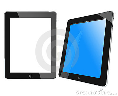 Two new Apple iPad black glossy and chromed Editorial Image