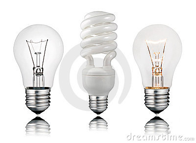 Two Normal and One Saver Lightbulbs