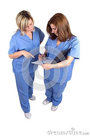 Free Two Nurses Royalty Free Stock Photography - 689867