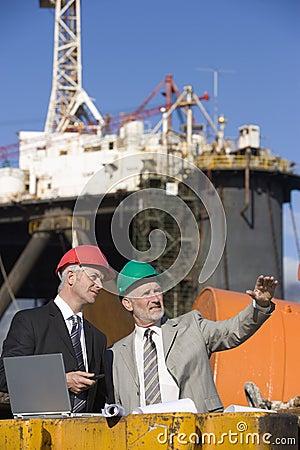 Free Two Oil Platform Inspectors Stock Images - 3618364