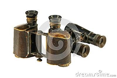 Two old binoculars