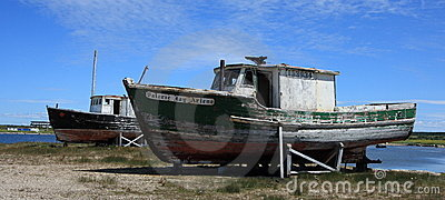 Two Old Fishing Boats Editorial Stock Image