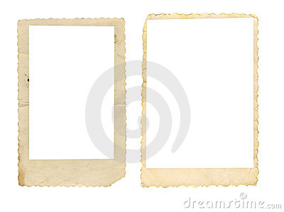 Two old photo frames