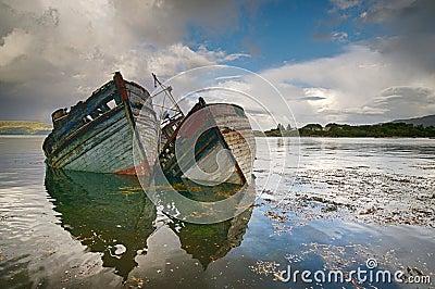 Two old shipwrecks