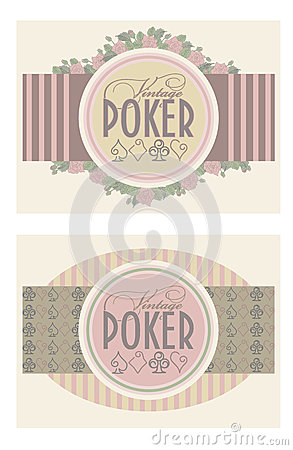 Two old vintage poker banners