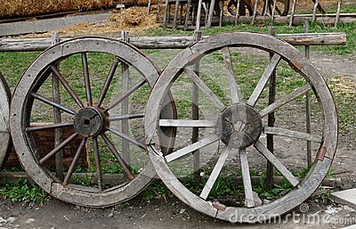 Two old  wheel