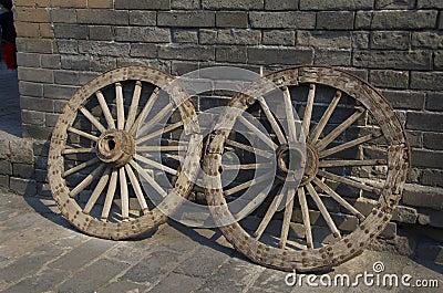 Two old wheels in Xian
